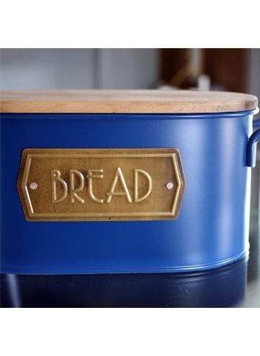 The Mia The Mia Kobalt Mavi Galvaniz Ekmek Saklama Kabı Renkli